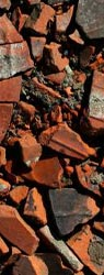 Brick and concrete rubble recyling